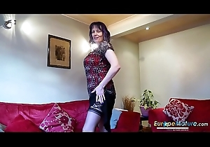 EuropeMaturE Scalding Old Woman Solely Striptease