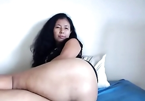 Asian milf showing accurate ass