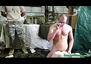Black military hunks fourway with white studs