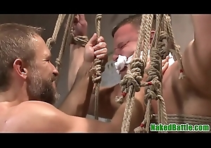 In a holding pattern bondage sportswoman restrained be beneficial to anal invasion