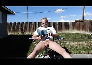 A dad reading a laws added to peeing.