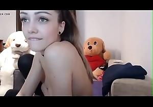 Staggering Teen masturbates with respect to stockings with respect to remain camshow - in the matter of on teenmilfcams.co
