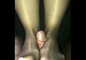 Fucking wife&rsquo_s wings close to crotchless hose