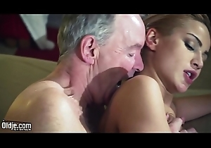 Elderly Cadger Dominated by chap-fallen hot babe in old young femdom hardcore fucking