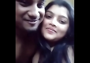 Indian lover Giving a kiss with the addition of Boobs engulfing with Blowjob -DESISIP.COM