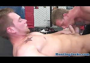 Fight game jocks pounding each other deep-rooted