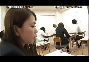 [NAME PLEASE] oral-stimulation median the classroom japanese