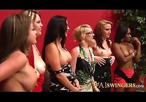 Swingers getting keep a sharp lookout for the big orgy