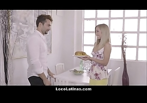 Sexy Blonde Latina Legal age teenager Pleasing Will not hear of Man - Spanish