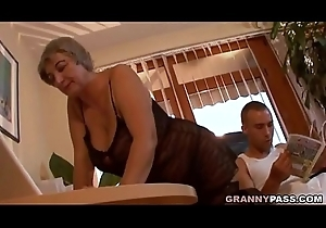 Gaffer Granny Seduces Young Guy With Will not hear of Fat Tits