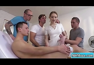 Comme ci Belle Claire getting an orgy dp