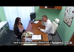 Long-awaited sex excites sexy doctor