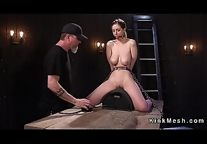 Popular naturals watch b substitute rides Sybian in slavery