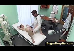 Debase exams patients cum-hole with his fingers